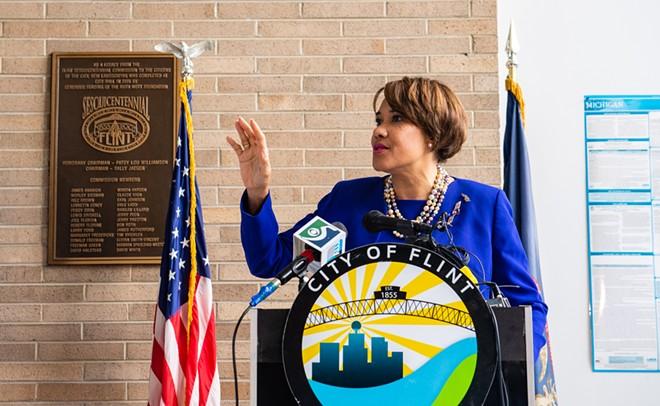 Then-Mayor Karen Weaver in 2018. - FLICKR CREATIVE COMMONS, U.S. DEPT. OF HOUSING AND URBAN DEVELOPMENT (HUD)