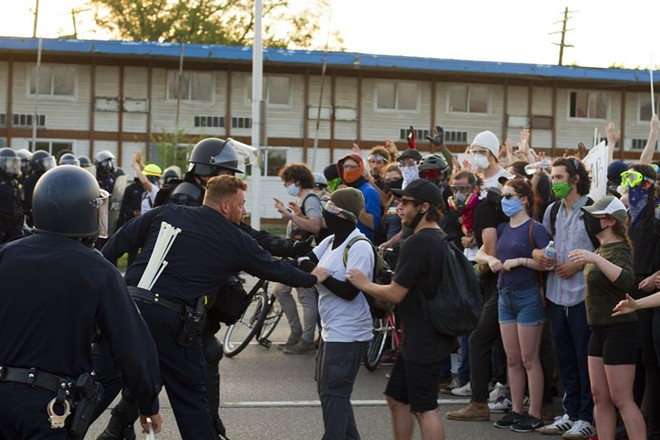 Police arrested 127 protesters for defying Detroit's curfew on June 2. - STEVE NEAVLING