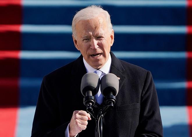 President Joe Biden speaks during the 59th Presidential Inauguration at the U.S. Capitol in Washington, Wednesday, Jan. 20, 2021. - MCCV / SHUTTERSTOCK.COM