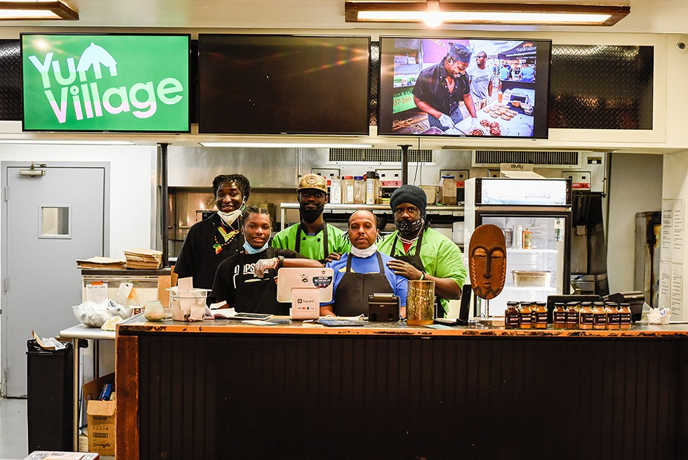 New Center's Yum Village restaurant has rebranded itself as Yum Village Afro-Caribbean Market Pantry, a bodega- or bazaar-style marketplace. - KELLEY O'NEILL