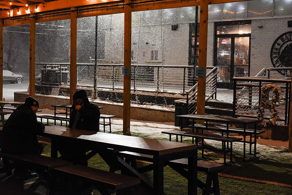 Even in Michigan's brutal winter, customers continue to come to drink beers at Batch Brewing Co. - KELLEY O'NEILL
