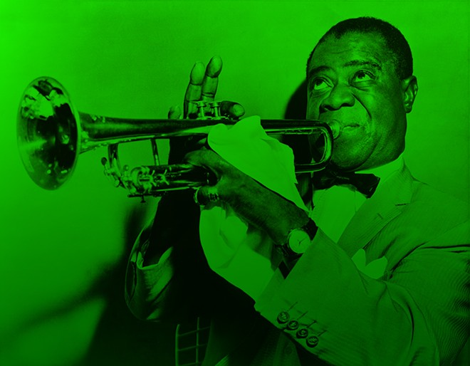 Louis Armstrong was fond of the leaf. - LIBRARY OF CONGRESS