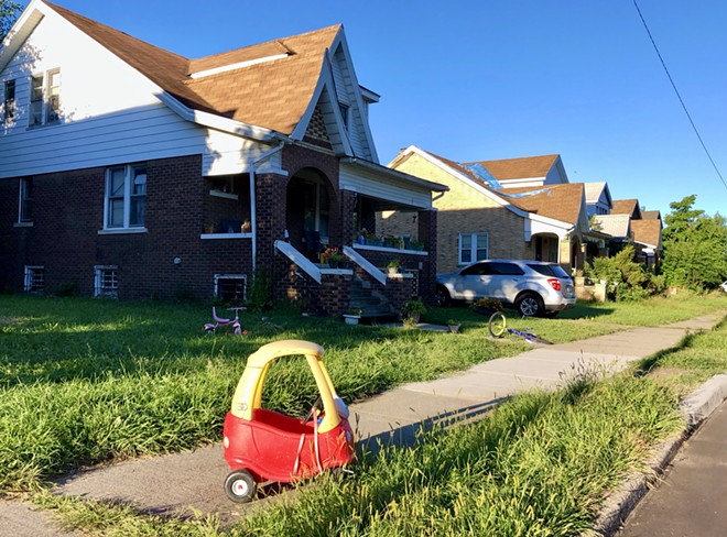 Houses on Detroit's east side. - STEVE NEAVLING