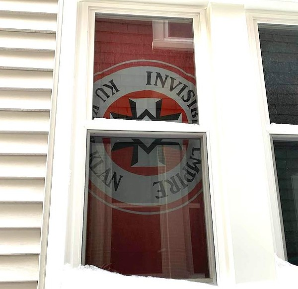 KKK flag faces Black neighbor's home in Grosse Pointe Park. - DEADLINE DETROIT