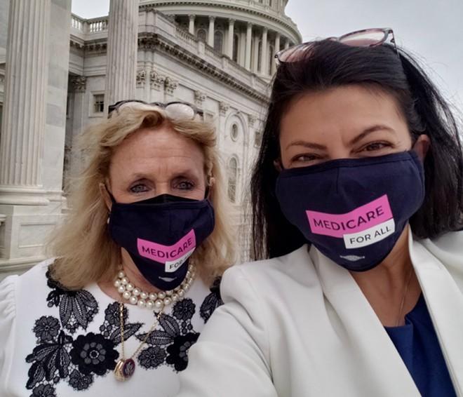 U.S. Reps. Debbie Dingell and Rashida Tlaib. - OFFICE OF U.S. REP. RASHIDA TLAIB