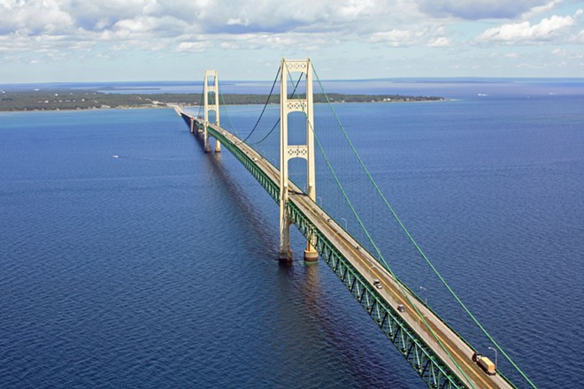 The Line 5 pipelines run as deep as 270 feet below the surface of the Straits of Mackinac. - JUSTIN BILLAU, FLICKR CREATIVE COMMONS