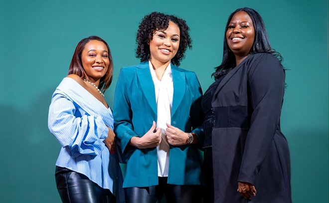 From left: Leah Hill, Chelsi Modest, and Amber Lewis. - IAN SOLOMON