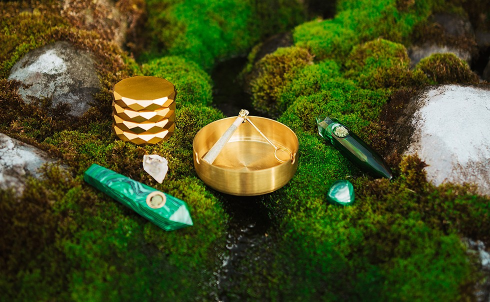"Verdeux's first collection was centered on emerald greens and golds, like the ""Muse Pipe."" - VERDEUX"