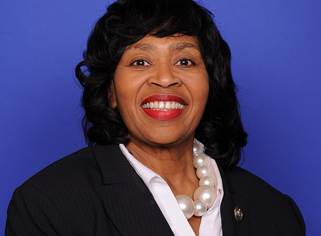 Brenda Jones's portrait from her brief time in the U.S. House of Representatives in 2018. - U.S. HOUSE OF REPRESENTATIVES