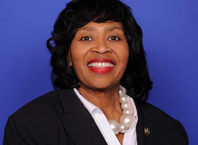 Brenda Jones's portrait from her brief time in the U.S. House of Representatives in 2018. - U.S. HOUSE OF REPRESENTATIVES