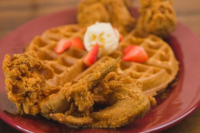 Joe Louis Kitchen's Original Chicken and Waffles. - COURTESY PHOTO