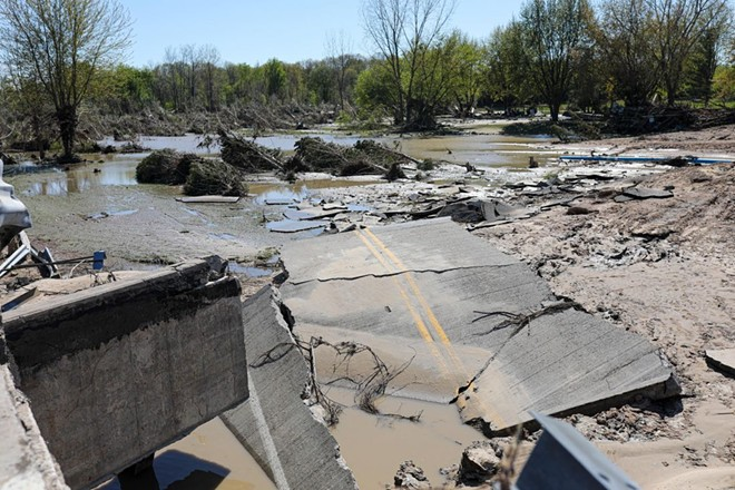 The Midland-area flood in May 2020 destroyed homes, businesses, and roads after two dams collapsed. - RUSTY YOUNG