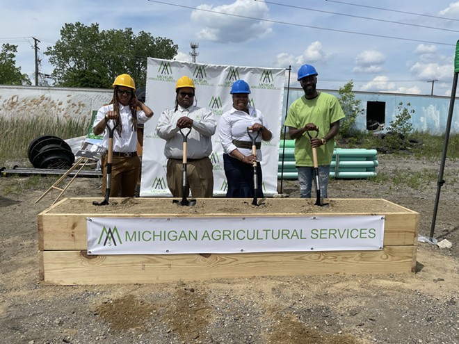 The Michigan Agricultural Services, LLC (MAS) broke ground on Friday. - COURTESY PHOTO