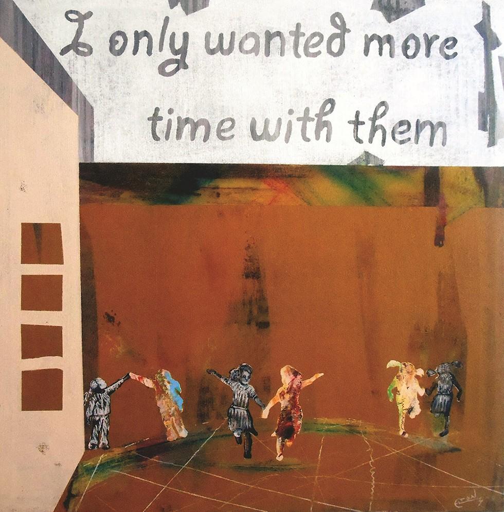 """What I Only Want,"" by Elton Monroy Durán. Acrylic on canvas. - ELTON MONROY DURÁN"