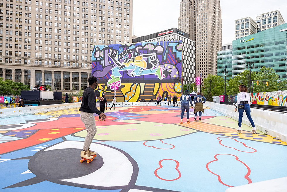 Bedrock Detroit's Monroe Street Midway opened to the public last week. - COURTESY OF BEDROCK DETROIT