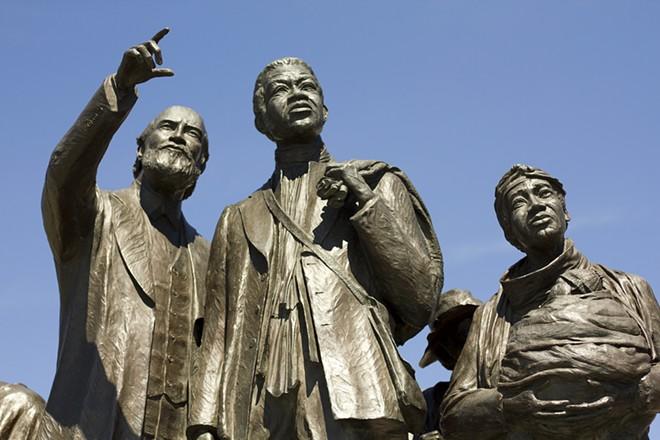 Gateway to Freedom International Memorial in Hart Plaza in Detroit. - STEVE NEAVLING