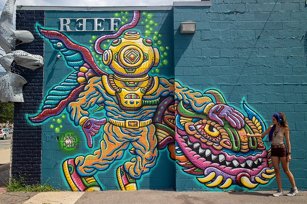 """Chris Dyer's """"The Reef Diver"""" is located at The REEF Detroit. - COURTESY PHOTO"""