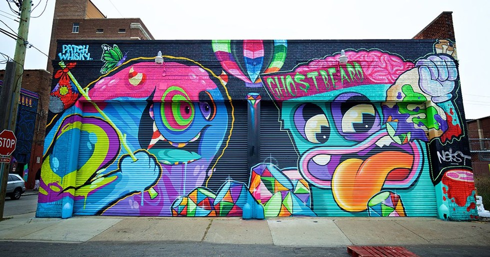 """Ghostbeard & Patch Whisky: """"Best Buds."""" - MURALS IN THE MARKET"""