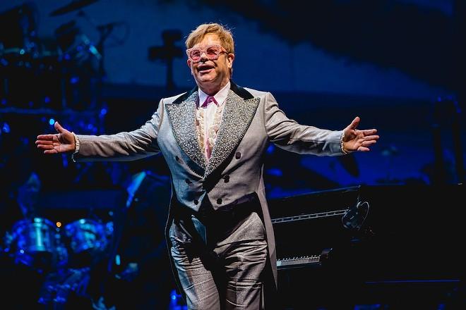 Elton John performs live at Van Andel Arena on the Farewell Yellow Brick Road Tour, Oct. 2018. - TONY NORKUS / SHUTTERSTOCK.COM