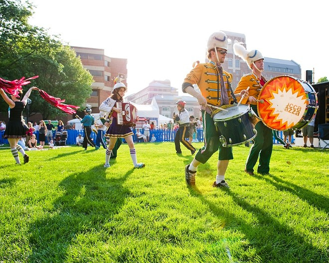 Ann Arbor's annual Summer Festival in Burns Park. - MYRA KLARMAN