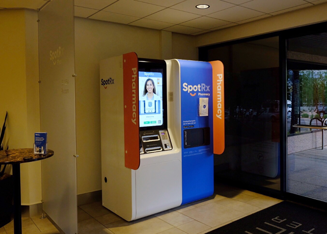 Retail pharmacy company SpotRx has opened several self-serve kiosks and one hub pharmacy location. - COURTESY OF SPOTRX