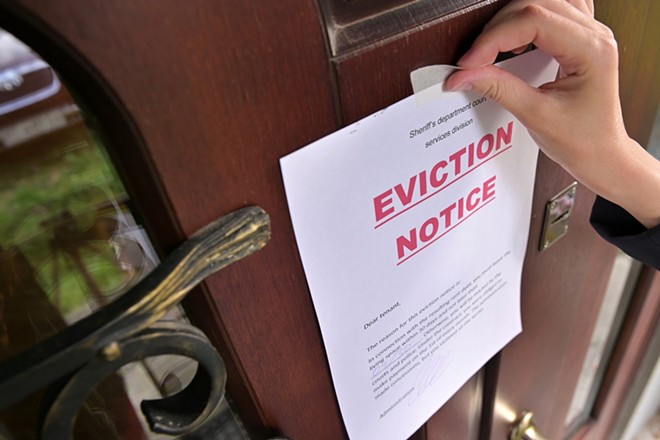 The Biden administration has extended an eviction moratorium through July 31. - SHUTTERSTOCK