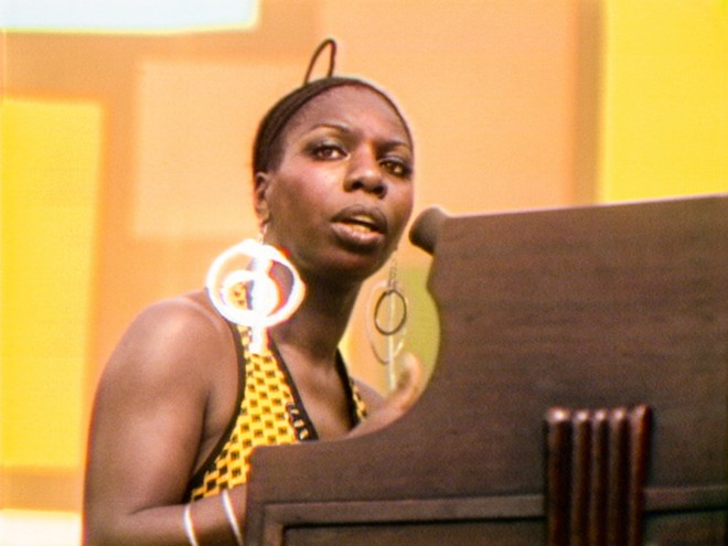 Nina Simone performs at the 1969 Harlem Cultural Festival. - SEARCHLIGHT PICTURES