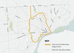The Joe Louis Greenway loop. - CITY OF DETROIT