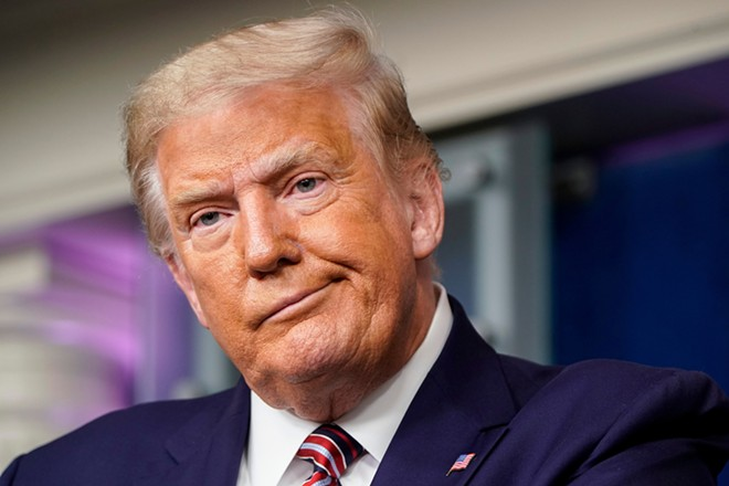 Former President Donald Trump peddled baseless conspiracy theories about the 2020 election. - SHUTTERSTOCK