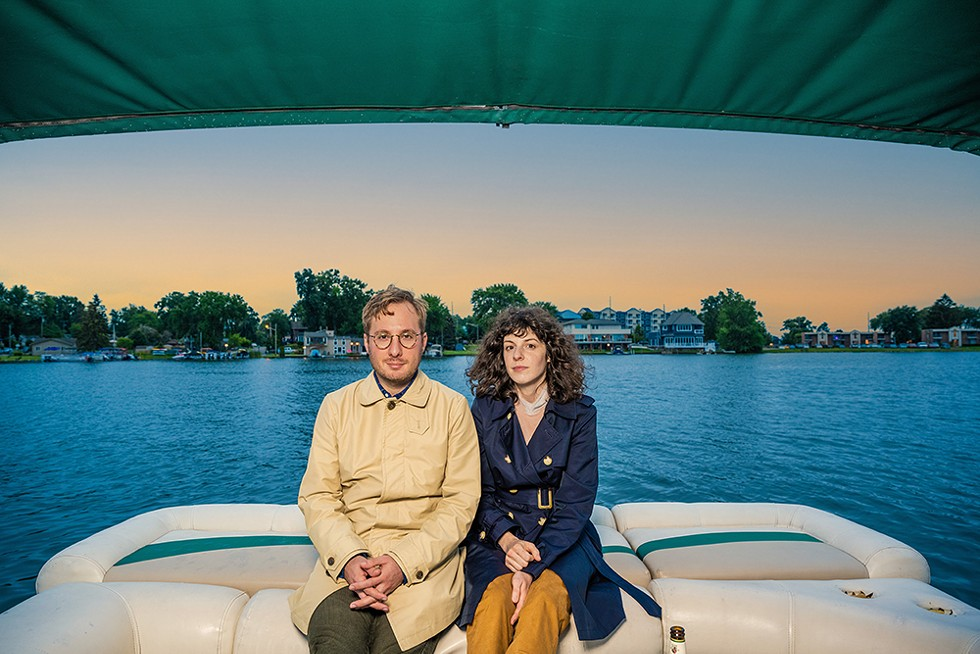 I'm on a boat: Matt Milia and wife and musical collaborator Lauren on Sylvan Lake. - DOUG COOMBE