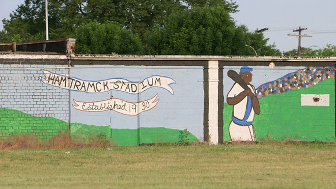 Brick wall near the old Hamtramck Stadium. - STEVE NEAVLING