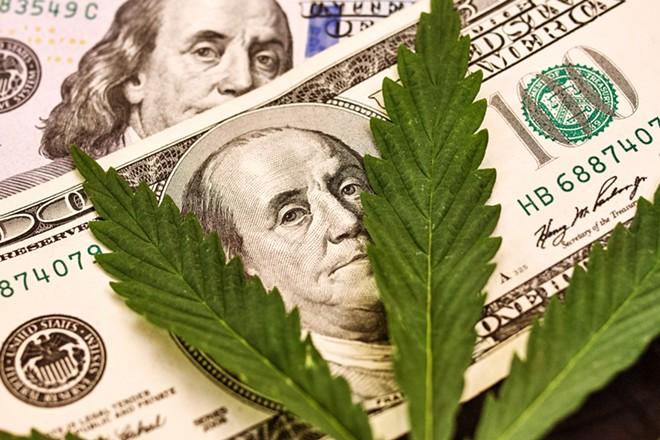Marijuana makes money. - SHUTTERSTOCK
