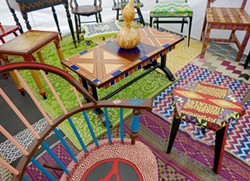 Have a seat, or better yet, buy one at the Belle Isle Art Fair. - CHARLENE URESY