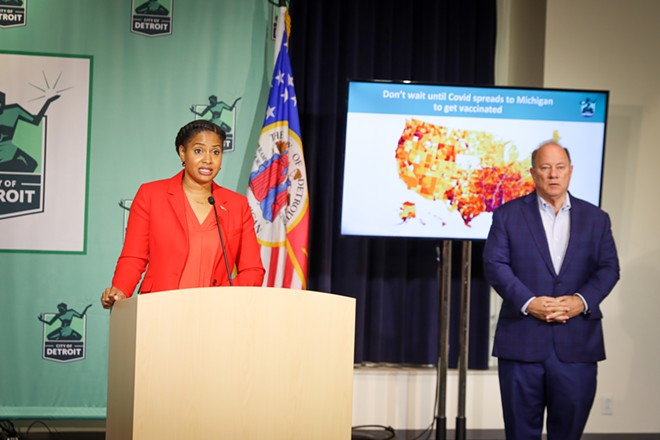 Detroit Chief Public Health Officer Denise Fair and Mayor Mike Duggan urge immunocompromised Detroiters to get a third shot. - CITY OF DETROIT/FLICKR CREATIVE COMMONS