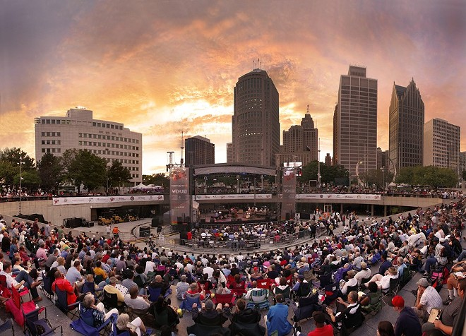 A crowd at the Detroit International Jazz Festival. - PHOTO BY LEN KATZ