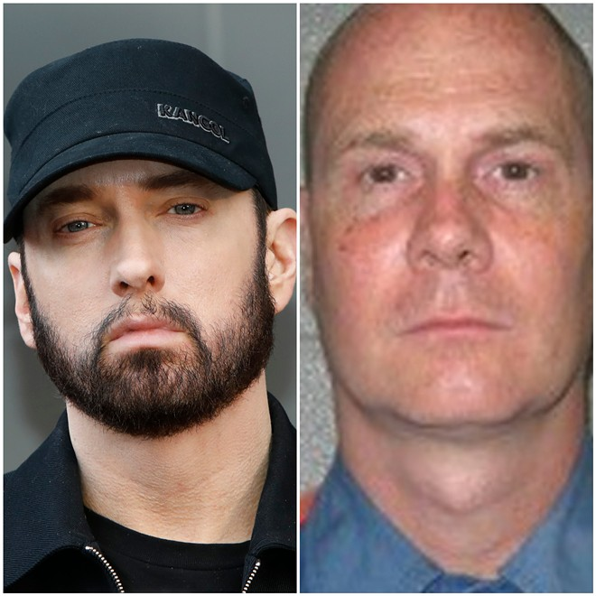 Eminem will portray White Boy Rick for 50 Cent's - (L-R) KATHY HUTCHINS/SHUTTERSTOCK.COM, MICHIGAN DEPARTMENT OF CORRECTIONS
