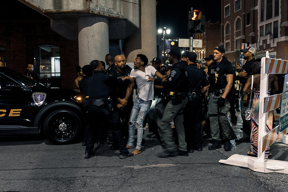 Detroit's Greektown has become known as a hotbed of crime — and of police presence and surveillance.  - SE7ENFIFTEEN