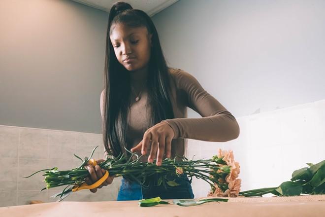 Ja'Nye Hampton, 22, began Detroit Flower Company during the height of the pandemic. - PHOTO VIA JA'NYE HAMPTON