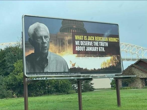 Billboards targeting U.S. Rep. Jack Bergman were installed in northern Michigan. - WE THE PEOPLE