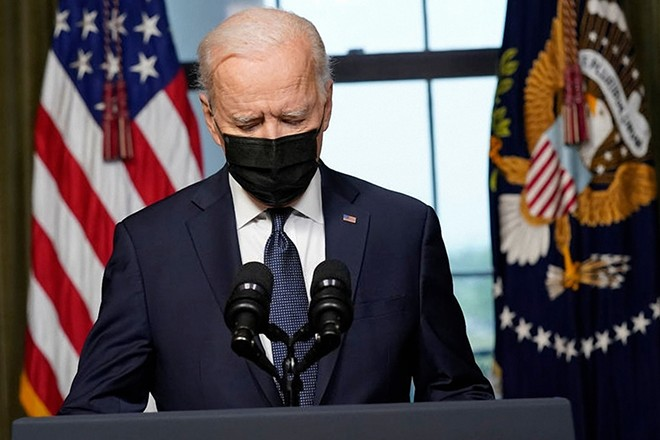 President Joe Biden speaks from the Treaty Room in the White House about the withdrawal of U.S. troops from Afghanistan. - REDHOODSTUDIOS / SHUTTERSTOCK.COM