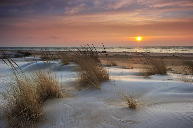 A sunrise along Lake Huron in Michigan. - SHUTTERSTOCK