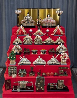 Display of Hinamatsuri dolls. - PHOTO VIA DETROIT INSTITUTE OF ARTS