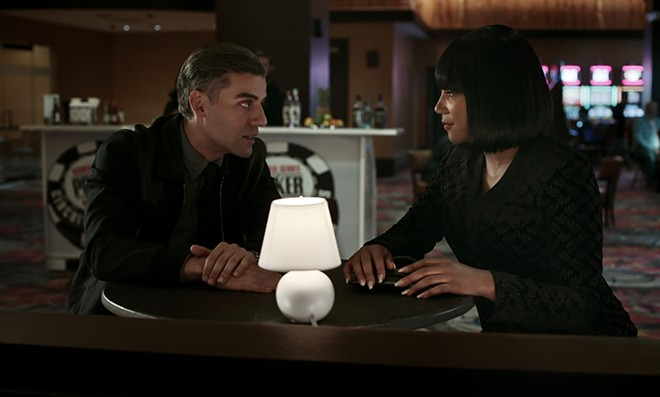 Oscar Isaac and Tiffany Haddish in The Card Counter. - FOCUS FEATURES