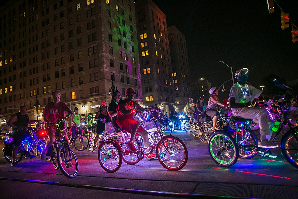 After a hiatus, Detroit's Dlectricity festival and Light Bike Parade is rolling back into town. - COURTESY PHOTO