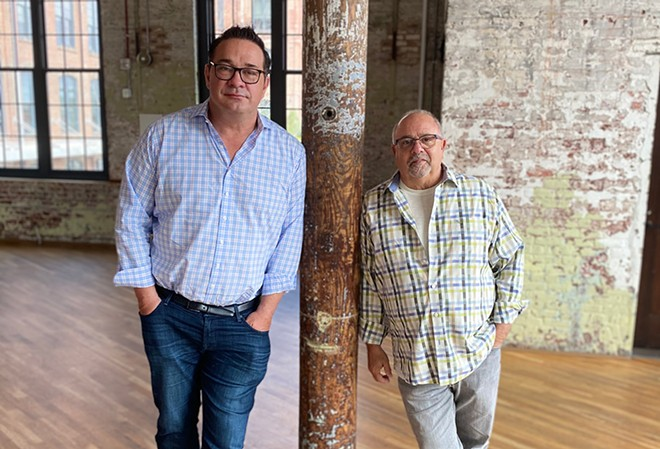 Steve Palmer, left, and Mickey Bakst, a metro Detroit native, co-founded Ben's Friends, a national support group for restaurant industry workers. Metro Detroit is the group's latest chapter. - COURTESY OF BEN'S FRIENDS
