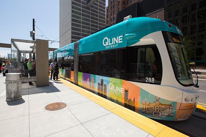 Detroit's QLine streetcar is back in business. - LEAH CASTILE/DETROIT STOCK CITY