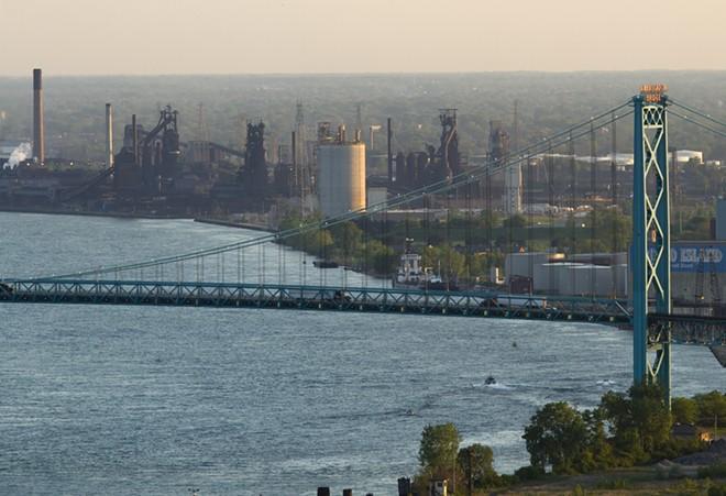 The Detroit River in Southwest Detroit. - STEVE NEAVLING