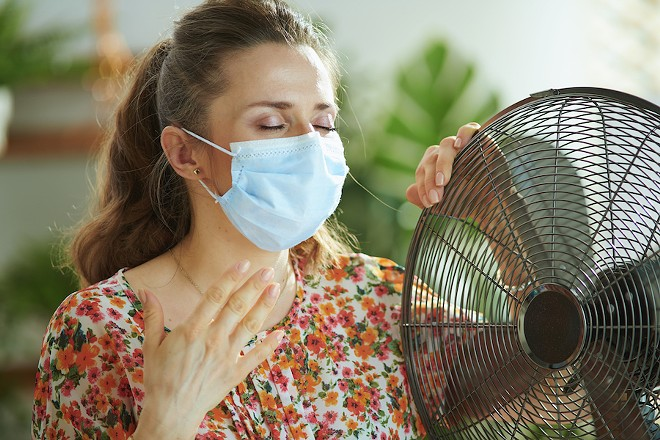 The CDC says fan that shit. - SHUTTERSTOCK.COM