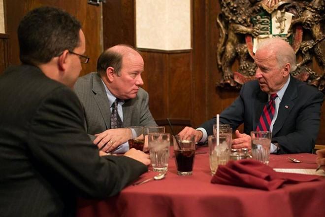 Then-Vice President Joe Biden visited Mayor Mike Duggan to talk about Detroit in 2014. - CITY OF DETROIT