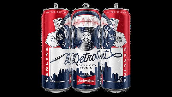 Budweiser Detroit Music tallBoy. - COURTESY PHOTO VIA BUDWEISER